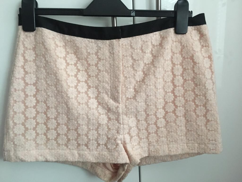 Topshop Flowery Shorts Size 10