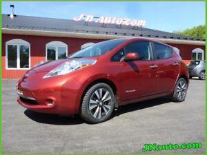 2015 Nissan Leaf SL Premiun, Cam 360,Cuir + GPS 6.6 kwh,Recharge