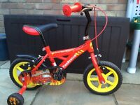 "12"" boys fire rescue bike in excellent condition"