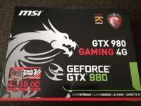 MSI GTX 980 graphics card 4G