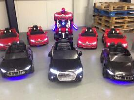 Ex Demo kids Ride On Cars 12v, All Bluetooth Remote Control And Mp3 Players, Opening Doors, Lights