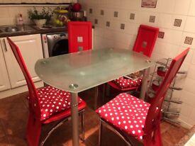 Glass DiningTable (extendable)