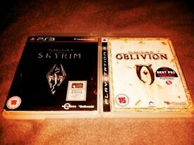 One of the best PS3 games Skyrim and Oblivion