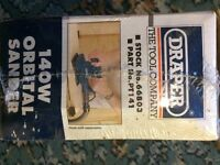 DRAPER 140w ORBITAL SANDER FOR SALE. BRAND NEW AND IN ORIGINAL PACKAGING. ONLY £15.00
