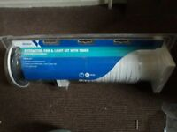 Brand new Wickes extractor fan and light kit with timer