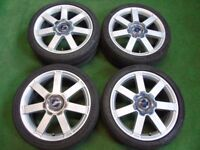 "FORD MONDEO GALAXY FOCUS TRANSIT CONNECT C-MAX S-MAX 18"" ALLOY WHEELS"