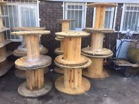 Wooden cable drums for up cycle , all reclaimed good solid drums various sizes can deliver locally