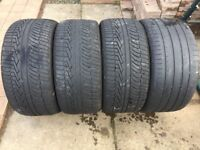 "4 X 21"" TYRES 295/35R21 107Y M+S DECENT TREAD OVER 4MM 295 35 21 AUDI Q7"