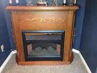 Electric Fireplace And Bar