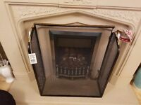 Fire Guard for Gas / Electric Fires - Brass Frame NEW