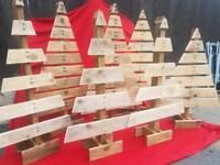 Wooden xmas trees