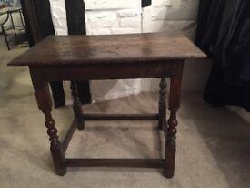 Oak 2 plank side table circa 1700