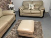 Luxury leather sofas / can deliver / like new