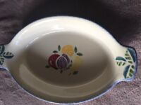 Poole Pottery Dorset Fruits 'eared' Oval Serving Dish - Multi Fruits