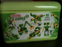 Meccano Easy 1. Age 4+ makes 10 different models.