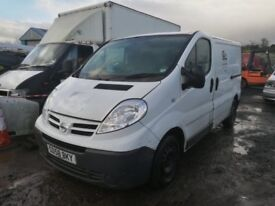 Nissan primastar Renault trafic Vauxhall vivaro 2007 year 2.0 spare parts available