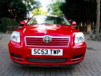 TOYOTA AVENSIS 1.8 VVTI T3 AUTOMATIC 5DOOR HATCHBACK 60K MILES FSH 2 KEYS EXCELLENT CONDITION