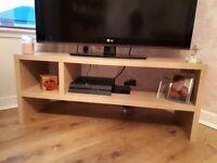 Light oak chunky tv unit 2 weeks old