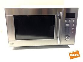 STAINLESS STEEL MANUAL AUTO FUNCTION MULTISTAGE MICROWAVE OVEN 800W 20L £40 New