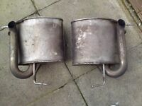 BMW X5 exhaust silancers