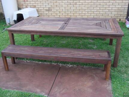 Timber Outdoor Setting, BBQ Table 8 seater 2400 x 1200mm