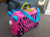 Trunki - pink with zebra stripes