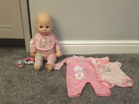 Learn to crawl/walk Baby Annabell doll