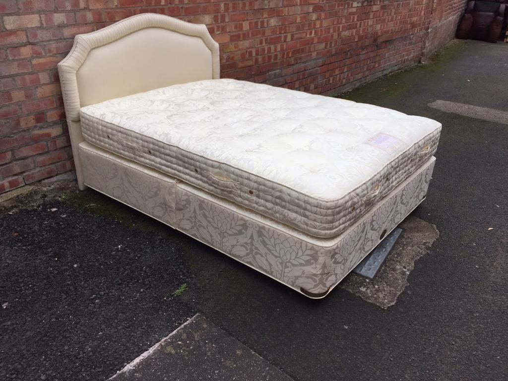 Vi spring double bed and headboard