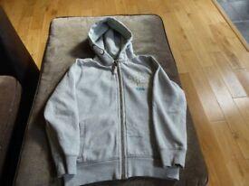 **Next light grey zipped hoodie, aged 11**