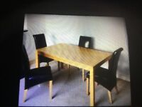 Dinning table & chairs very good condition