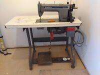 Industrial sewing machine. Singer 491 (D3009AKK). 230v domestic plug. Needs service.