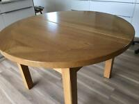 Oak dining table. John Lewis.