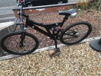 Full suspension and disc break mountain bike