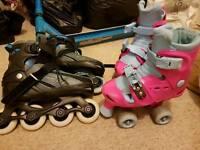 2 x pairs of roller skates