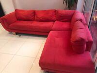 Free Red Corner Sofa