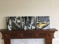 6 city scene canvas/prints