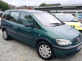02 VAUXHALL ZAFIRA 1.6 - 7 SEATER - MPV - LONG MOT - PX WELCOME