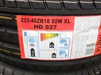 2 x brand new 225 40 18 haida racing tyres GOOD RATINGS still for sale kingsmuir forfar