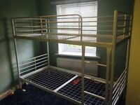 Sparta White Metal Bunkbeds from Ikea