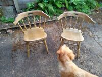 Two Used Carver Chairs - Ideal for Resto / Upcycling