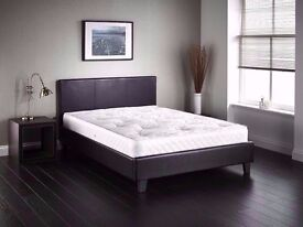 #_HAPPY_NEW_YEAR_OFFER**DOUBLE LEATHER BED !!WITH ORTHOPAEDIC MATTRESS !! SAME DAY Delivery