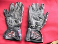 Pair Of Small Black Leather RST Motor cycle Gloves Weymouth