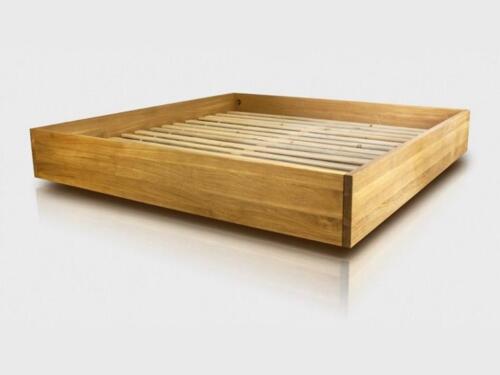 Reiner Eichenbett Bett Aus Massivholz Lattenrost Aus Kiefernholz In