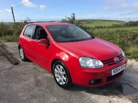VOLKSWAGEN GOLF GT 2.0 FSI 5DR RED 2004 MK5 1 OWNER FVWSH