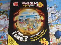 500 piece WASGIJ Jigsaw Puzzle - Happy Holidays No 2. Pokesdown BH5 2AB