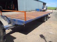 25ft bale trailer