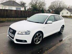 *2012* AUDI A3 S-LINE SPECIAL EDITION BLACK VERSION 2.0 TDI LONG MOT + £30 ROAD TAX