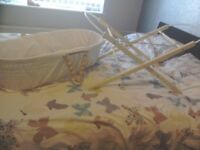 Moses basket mattress and stand