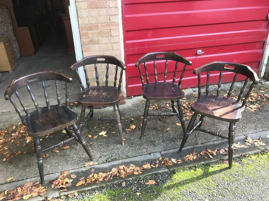 4 matching captain chairs