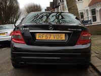 Mercedes Benz C200 1.8 Kompressor Sport 4 Door Auto/Manual Petrol Black AMG Styling
